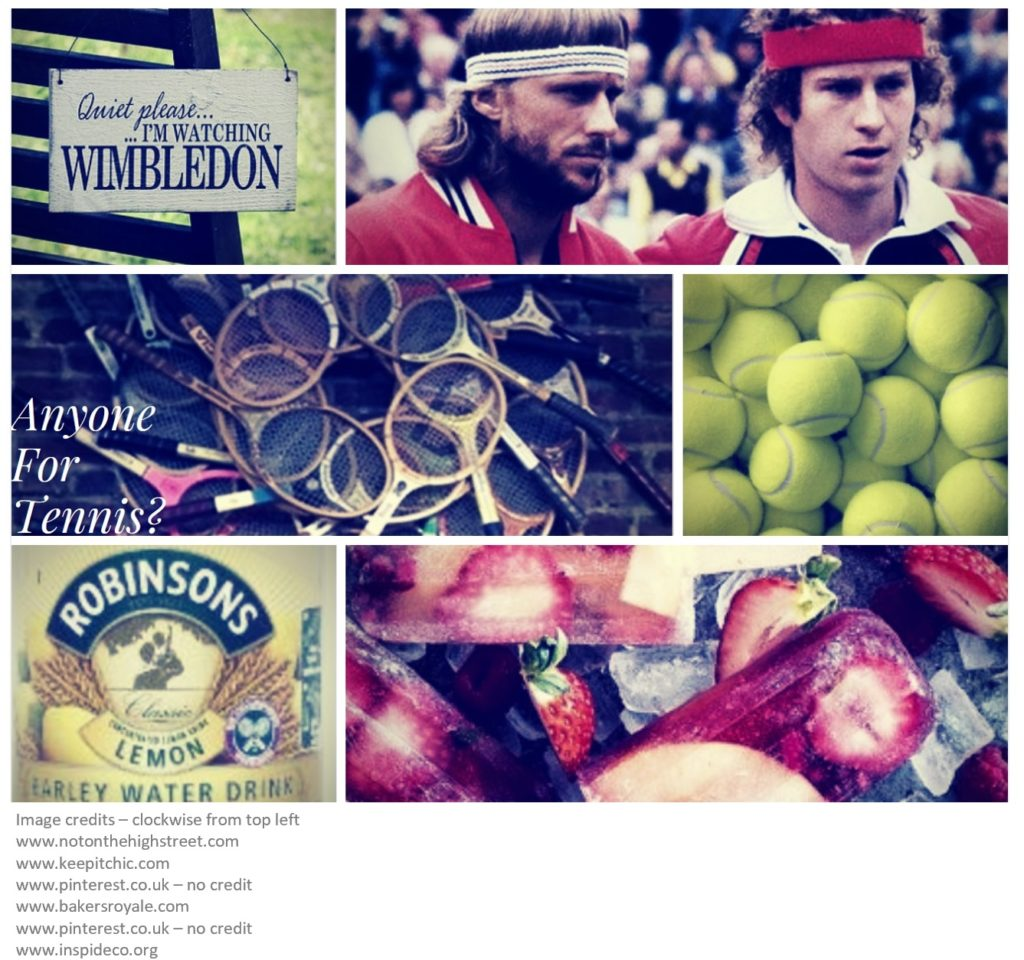 Wimbledon PIcture Montage Showing Borg and McEnroe