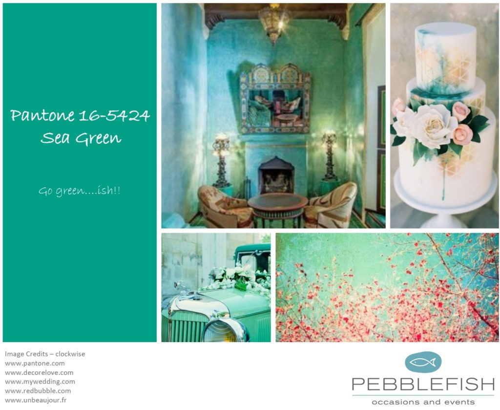 PIcture montage for pantone colour - sea green