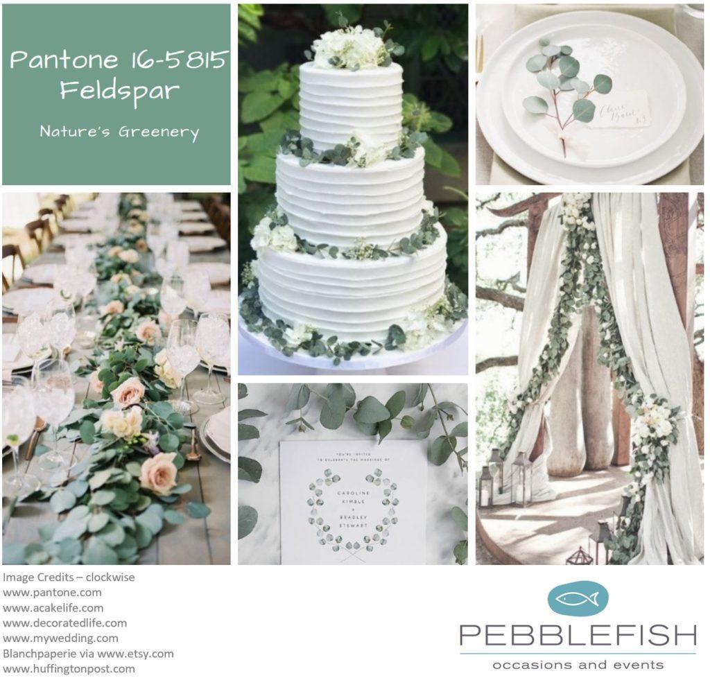 Picture montage of Pantone Colour Feldspar