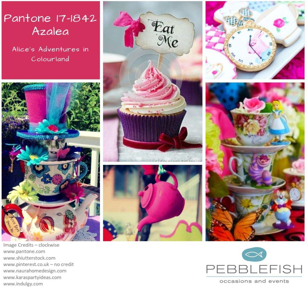 Picture montage for pantone colour Azalea