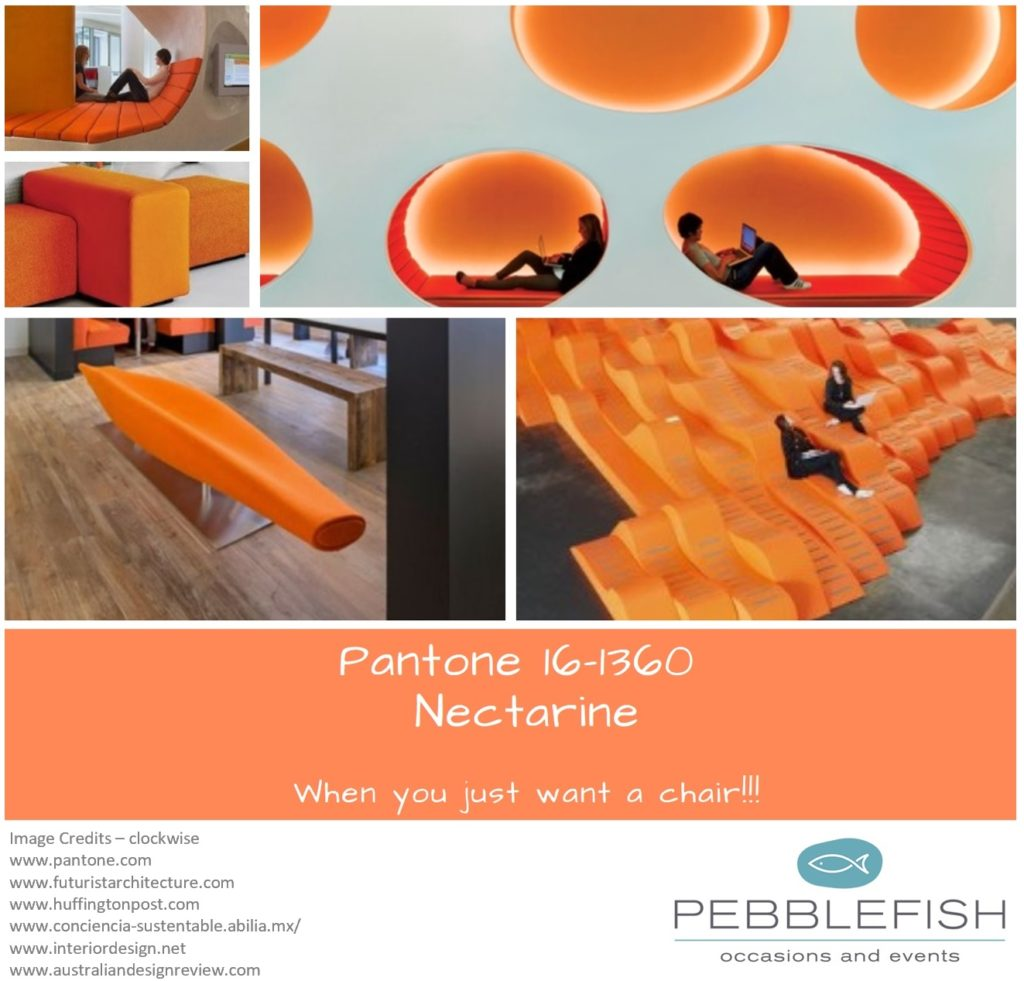 Picture Montage for pantone colour Nectarine