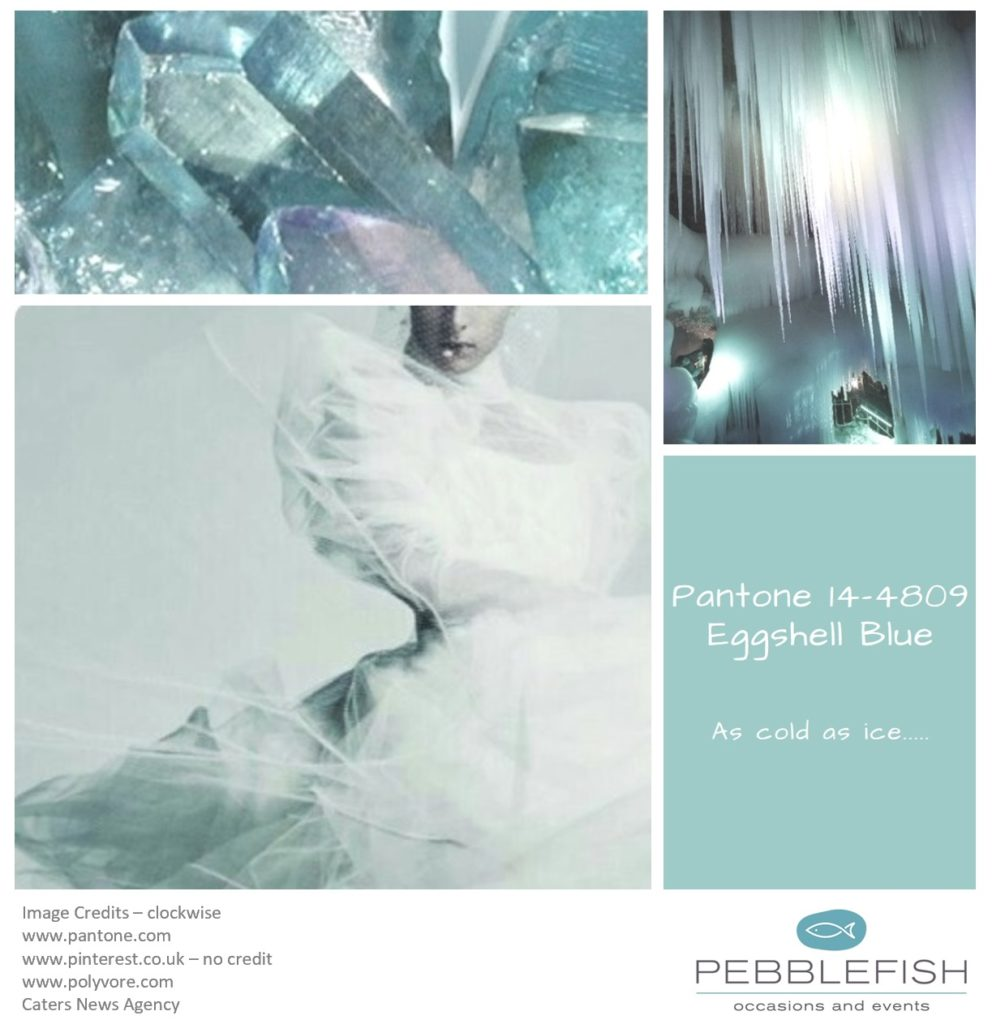 Picture montage for the pantone colour - Eggshell Blue