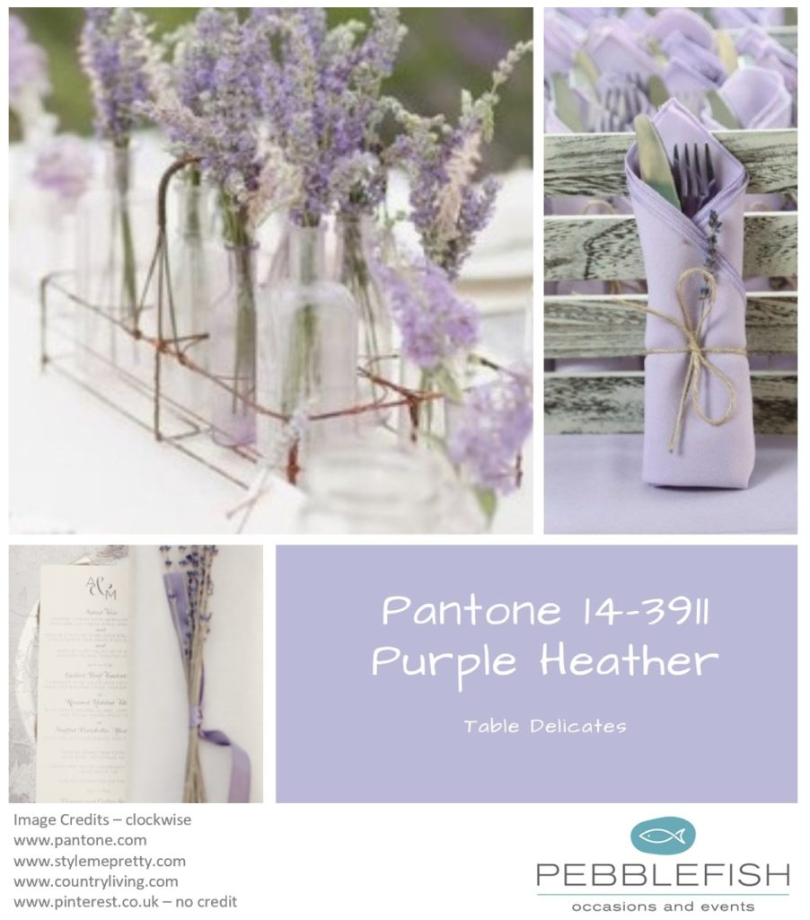Picture Montage for pantone colour ref Purple Heather