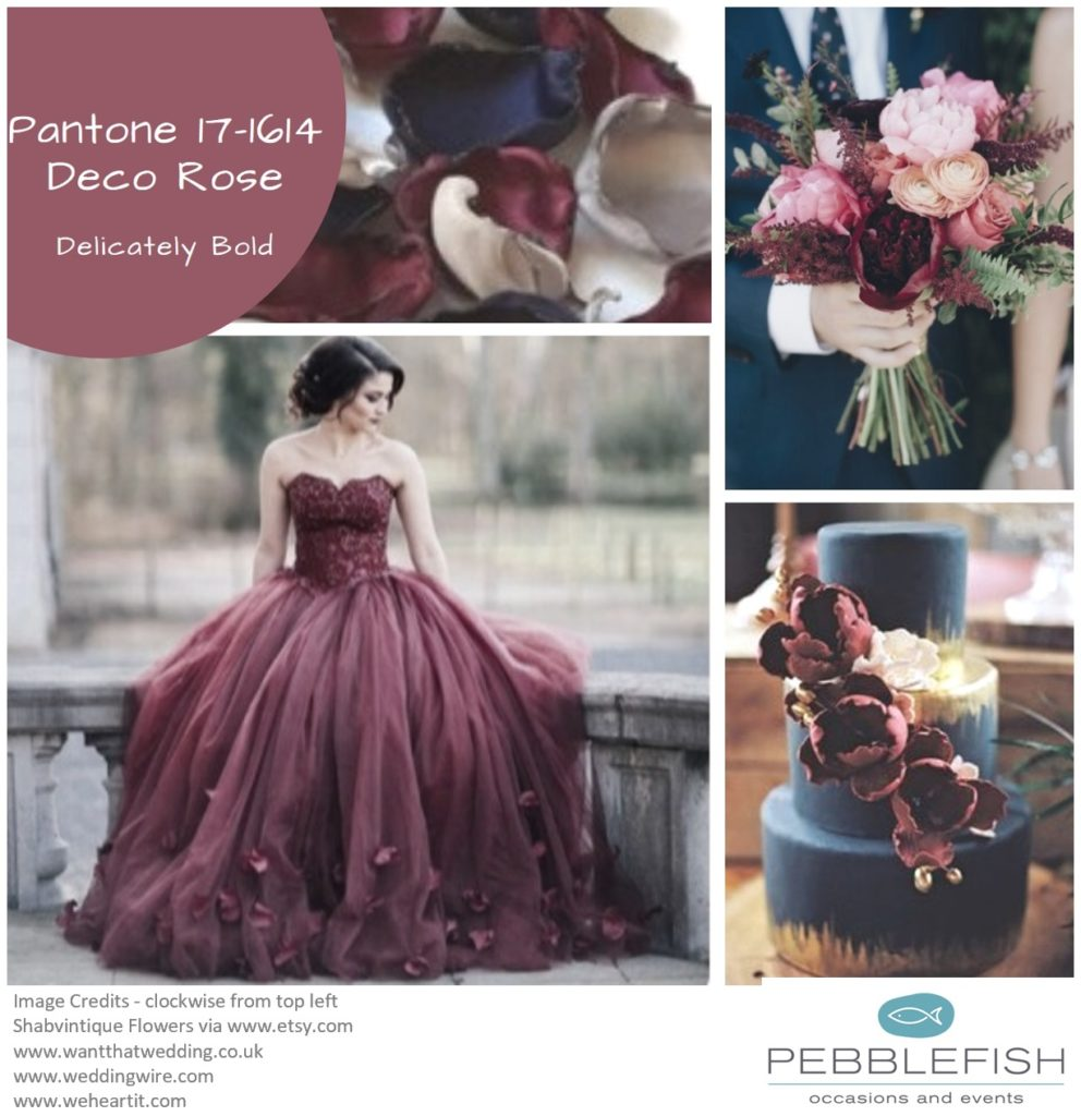 Picture montage for pantone colour Deco Rose